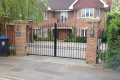 A personalised, bespoke metal automated gate