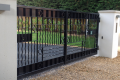 A personalised, large metal gate